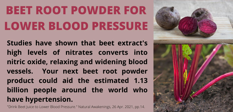 Beet Root Powder for Lower Blood Pressure